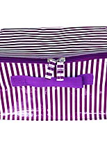 Women Cosmetic Bag PVC All Seasons Wedding Formal Office & Career Others Zipper Purple