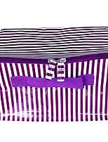 Women Cosmetic Bag PVC All Seasons Wedding Formal Office & Career Others Zipper Purple