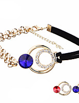 2 Colors Gothic Collar Crystal Choker Necklace For Women Vintage Retro Leather Pendant Statement Necklaces Jewelry Gift Wholesale