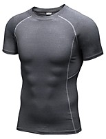 Men's Short Sleeve Running T-shirt Sweatshirt Fitness, Running & Yoga Quick Dry Sports All Seasons Sports WearRunning/Jogging Cycling