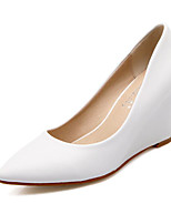 Women's Heels Basic Pump Spring Summer Real Leather Casual White Black Almond 2in-2 3/4in