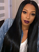 2017 Hot Selling Full Lace Human Hair Wigs Silky Straight with Baby Hair 130% Density Brazilian Virgin Hair Lace Front Wig for Black Woman
