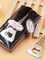 Chrome Bottle Favor-6 Piece Bottle Openers Rustic Theme 4 1/5