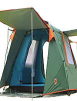 3-4 persone Tenda Doppio Tenda ripiegabile Due camere Tenda da campeggio >3000mm Terital Fibra di vetroBen ventilato Ompermeabile