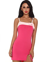 Women Nightclub Splicing Color Sexy Slim Dress Sleeveless Skirt Lingerie