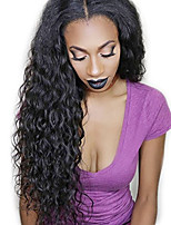 130% Density Deep Wave Wig Natural Color Lace Front Wig Human Virgin Hair  Wig for Black Women