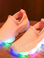 Kids Boys Girl's Loafers & Slip-Ons Light Up Shoes Moccasin Comfort Leather Tulle Spring Summer Fall Athletic Casual Outdoor WalkingLight Up Shoes