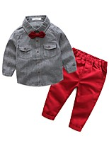 Boys' Solid Sets,Cotton Polyester Spring Fall Long Sleeve Clothing Set