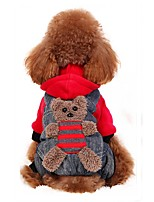 Dog Costume Coat Hoodie Pants Dog Clothes Party Cosplay Fashion Halloween Bear Ruby Yellow