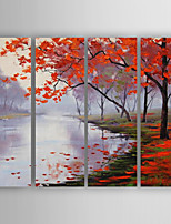Hand-Painted Decoration Landscape of set 4 Oil Painting With Stretcher For Home Decoration Ready to Hang