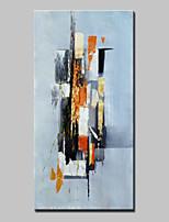 Pintados à mão Abstrato Vertical,Abstracto Modern 1 Painel Tela Pintura a Óleo For Decoração para casa