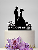 Personalized Acrylic Big Day Wedding Cake Topper