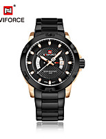 NAVIFORCE Men's Dress Watch Fashion Watch Japanese Quartz Calendar Water Resistant / Water Proof Stainless Steel Band Cool Casual Silver