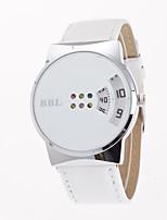 Жен. Модные часы Уникальный творческий часы Кварцевый Кожа Группа Повседневная Креатив Черный Белый