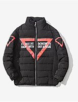 Men's Padded Coat,Simple Active Daily Casual Solid-Cotton Polyester Cotton Long Sleeve