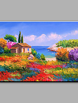 Dipinta a mano Paesaggi Orizzontale,Mediterraneo Un Pannello Tela Hang-Dipinto ad olio For Decorazioni per la casa