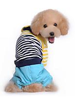 Собака Комбинезоны Одежда для собак На каждый день Полоски Красный Синий