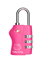 HELLO KITTY LT-654 Password Padlock Zinc Alloy 3Digit Password TSA Lock Country Customs Lock Dail Lock Password Lock