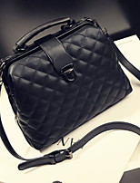 Women Shoulder Bag PU Spring Summer Casual Outdoor Square Without Zipper Black White