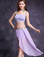 Belly Dance Outfits Women's Performance Modal Chiffon 2 Pieces Half Sleeve Natural Top / Skirts