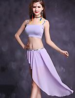Danza del Vientre Accesorios Mujer Actuación Modal Raso 2 Piezas Sin mangas Cintura Media Faldas Tops