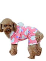 Dog Coat Dog Clothes Casual/Daily Keep Warm Geometric Blushing Pink