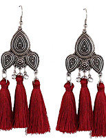 Women's Drop Earrings Jewelry Tassel Oversized EVA Resin Alloy Geometric Jewelry For Wedding Party Gift Dress Festival