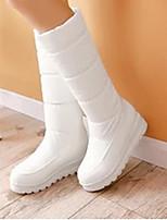 Damen Stiefel Komfort Nubukleder PU Winter Normal Komfort Weiß Schwarz Rot Blau 10 - 12 cm