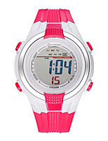 Kid's Sport Watch Digital Water Resistant / Water Proof Noctilucent Rubber Band Red Orange Rose