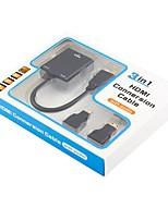 VGA Adaptateur, VGA to HDMI 1.4 Mini HDMI Micro HDMI Adaptateur Mâle - Femelle 0.2m (0.65Ft)
