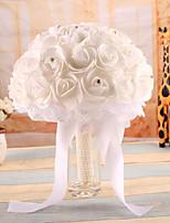Wedding Flowers Bouquets Wedding Elastic Satin Foam 7.87