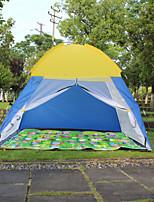 2 человека Световой тент Один экземляр Автоматический тент Однокомнатная Палатка 1000-1500 мм ПолиэстерОтдых и туризм Дожденепроницаемый