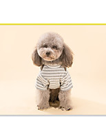 Dog Harness Dog Clothes Casual/Daily Stripe Stripe Brown Gray