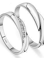 Couple Bague Onyx Zircon cubique Simple Style Elegant Zircon Forme Ronde Bijoux Pour Mariage Soirée Fiançailles Quotidien Cérémonie