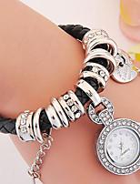 Жен. Часы-браслет Цифровой Металл Группа Черный Белый Серебристый металл Красный Золотистый Розовый Фиолетовый Темно-синий