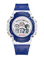 Kid's Sport Watch Digital Watch Digital Water Resistant / Water Proof Noctilucent Rubber Band Blue Purple