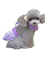 Dog Dress Dog Clothes Casual/Daily Sequins Ruby Purple