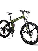 26inch Folding Mountain Bike 21 speeds Folding Bicicleta Plegable Bike 26*17inch Suspension Cycling Shimano Drivetrain 3 Spokes Wheels