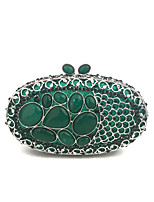 Ladies Delicate Turquosie Gem Evening Clutch Purse Designer Evening Clutches