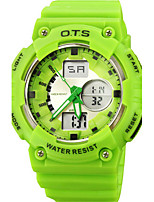 Men's Sport Watch Digital Rubber Band Black Orange Green