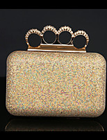 Women Clutch Metal Spring/Fall All Seasons Wedding Event/Party Casual Sports Formal Outdoor Office & Career Square Rhinestone Sequined