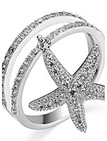 女性用 指輪石座 指輪 バンドリング キュービックジルコニア ベーシック ユニーク 友情 耐久 セクシー ファッション 愛らしいです あり かわいいスタイル 欧米の 映画ジュエリー 高級ジュエリー シンプルなスタイル アメリカ ブリティッシュ クラシック Elegant