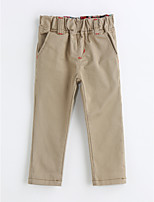 Boys' Solid Pants-Cotton Spring Fall