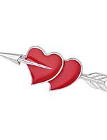 Dámské Brože Módní Multi-způsoby Wear Pozlacené Heart Shape Šperky Pro Denní Ležérní