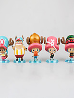 Anime Action Figures Inspired by One Piece Monkey D. Luffy PVC 7 CM Model Toys Doll Toy 1set