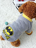Dog Coat Dog Clothes Casual/Daily Cartoon Gray