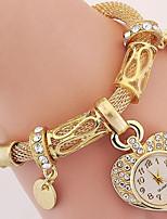 Жен. Часы-браслет Цифровой Металл Группа Серебристый металл Золотистый