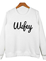 Men's Casual/Daily Simple Sweatshirt Print Round Neck Inelastic Cotton Long Sleeve Fall
