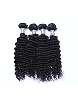 High Quality 4 Bundles 400g Brazilian Virgin Remy Human Hair Wefts 100% Unprocessed Deep Wave Human Hair Weaves Natural Black Human Hair Extensions