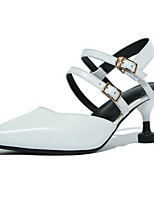 Women's Heels Comfort Basic Pump Spring Real Leather Casual White 2in-2 3/4in